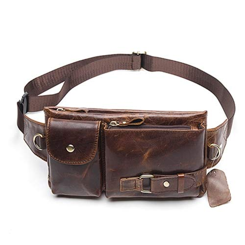 cb76838de131 Amazon.com: KathShop Genuine Leather Waist Packs Fanny Pack Belt Bag ...