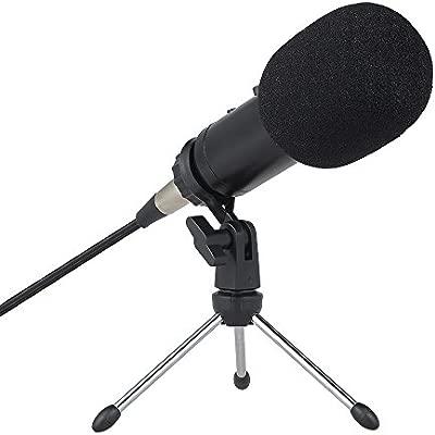 Gamogo Micrófono de Condensador Profesional Studio Micrófono ...