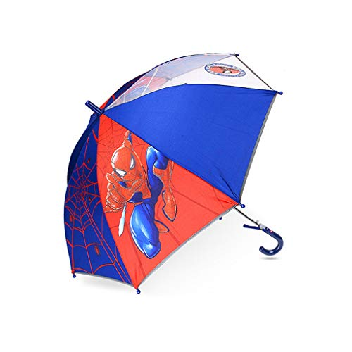 Umbrella Children's Long Handle Disney Marvel Spiderman Children's Cartoon HZYDD (Color : B)