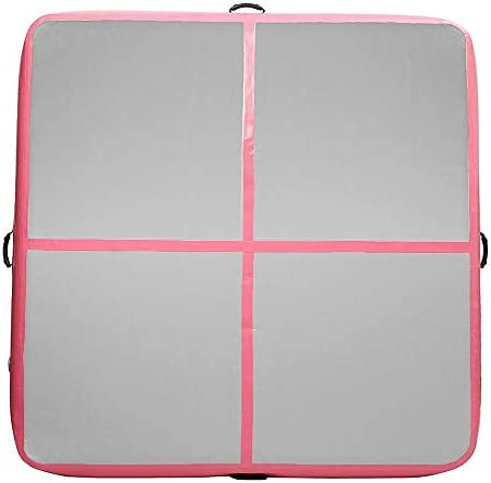 体操用マット インフレータブル体操マットAirtrackヨガマットレスフロアタンブリングパッド 体操トレーニング用マット (色 : Pink, Size : One size)