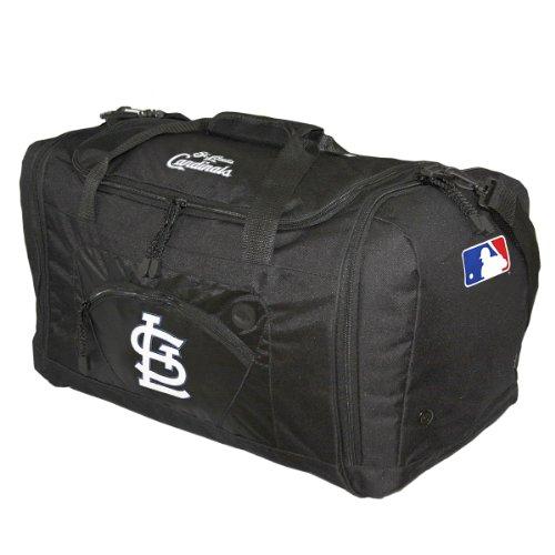 MLB St. Louis Cardinals Roadblock Duffle Bag, Black (Nylon Mlb Duffel Bag)