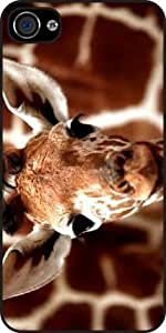Rikki Knight Giraffe cool Background Hard Case Cover for Apple iPhone 4/4S Universal Verizon - Sprint - AT&T - Unisex -Black