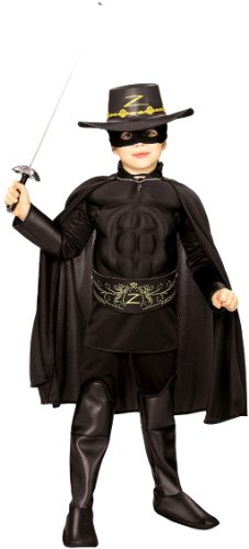 Kids Halloween NEW Boy Zorro Childrens Costume Boys Medium (5-7 years) -
