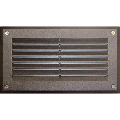 - DABMAR LIGHTING DSL1046-BZ Recessed Louvered Brick/Step/Wall Light, Bronze