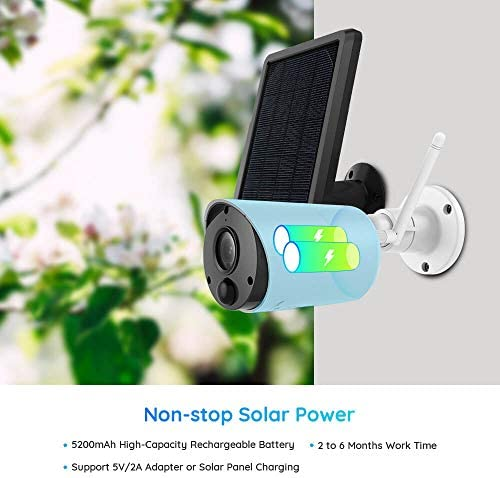 REOLINK Argus EcoSolar Panel Outdoor Solar Battery Powered Security Camera System 1080p HD Wirefree