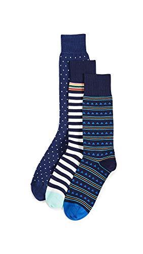 Paul Smith Men's 3 Pack Socks, Multicolor, One ()