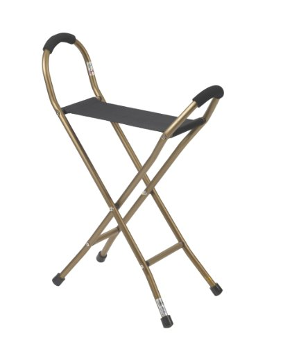 Walking Stick Seat - Drive Medical Folding Lightweight Cane with Sling Style Seat