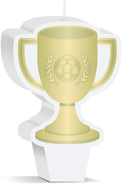 Amazon.com: Vela de trofeo de fútbol, decoración de fiesta ...