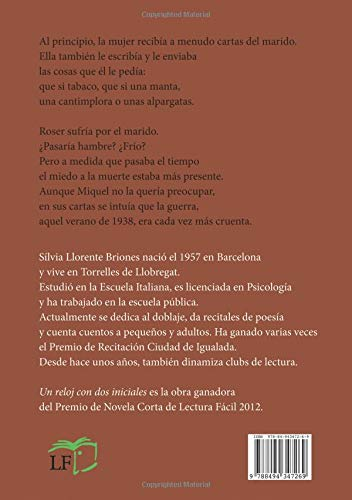 Un reloj con dos iniciales (Spanish Edition): Sílvia Llorente Briones: 9788494347269: Amazon.com: Books