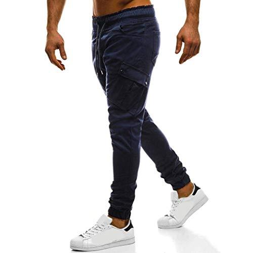Longra Cargo Slim Da I Uomini Fit Dei Normali Allungano Chino Biker Jogging Pantaloni Lunghi Abbigliamento Jogg Jeans Navy Progettista FrFwOq6