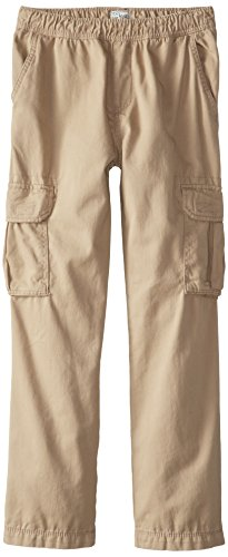 The Children's Place Big Boys' Pull-On Cargo Pant, Flax, (Childrens Cargo Pants)
