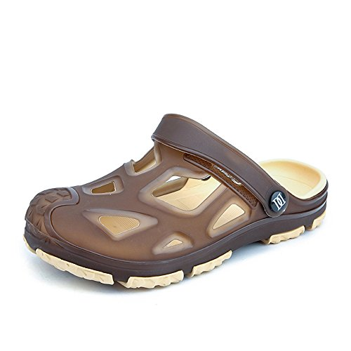 Hollow piatto da spiaggia Vamp Mens shoes Slip 2018 Tacco Sandali uomo Outdoor Trend da Ciabatte On 40nqwa