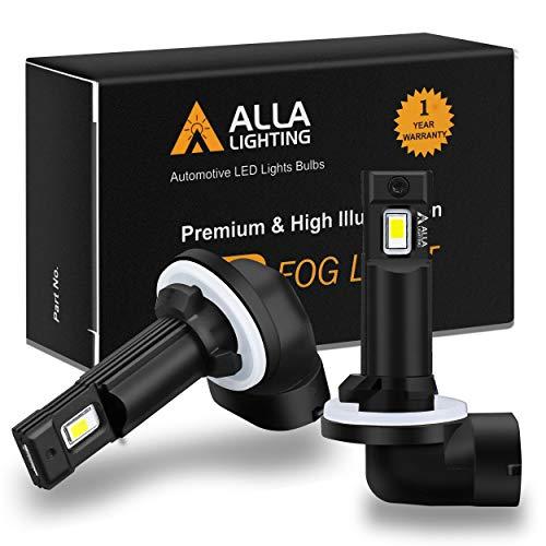 Alla Lighting Xtremely Super Bright 881 898 889 LED Lights Bulbs SM1 Vision 3000 Lumens LED Fog Lights Daytime Running Light Bulbs Replacement, 6000K Xenon White