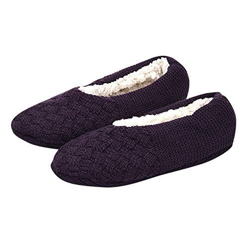 (YaidaWomens Mens Slipper Antislip Floor Warm Fleece Gripper Slippers Socks)