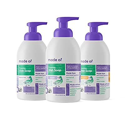 MADE OF Foaming Organic Baby Bottle & Dish Soap - 18oz