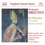 Britten - St Nicolas; Christ Nativity; Psalm 150