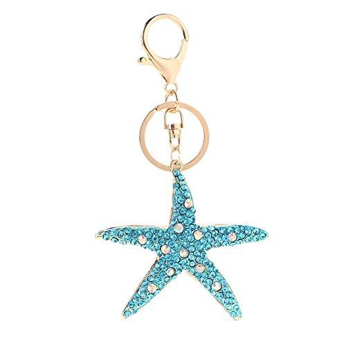 Jocestyle Women Clothing Decorations Accessories Crystal Star Key Chain Rhinestone Charm Pendant Bag Key Ring Women Gift from Jocestyle