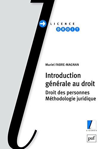 Telecharger Introduction Generale Au Droit Pdf De Fabre Magnan Muriel Nayfotendio