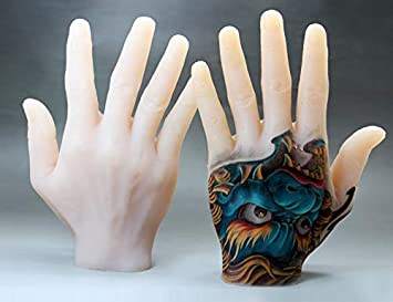 Silicone Tattoo Practice Hand Fake Tattoo Hand Fake Tattoo Skin Right Hand