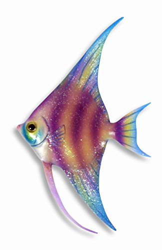 - LX Handpainted Glitter Cartoon Tropical Fish Wall Mount Decor Plaque 14