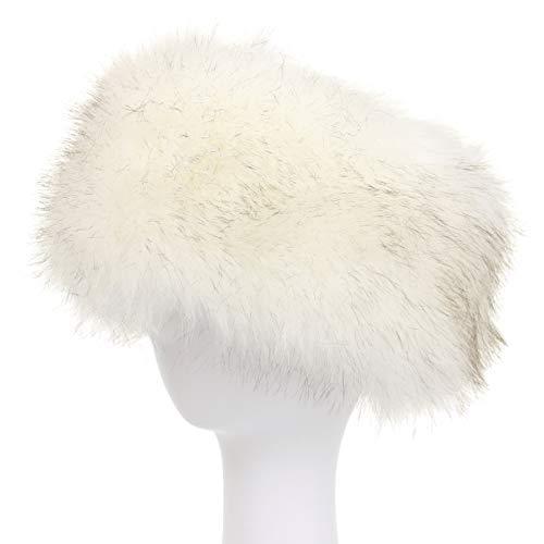 La Carrie Faux Fur Headband with Stretch Women's Winter Earwarmer Earmuff (white) ()