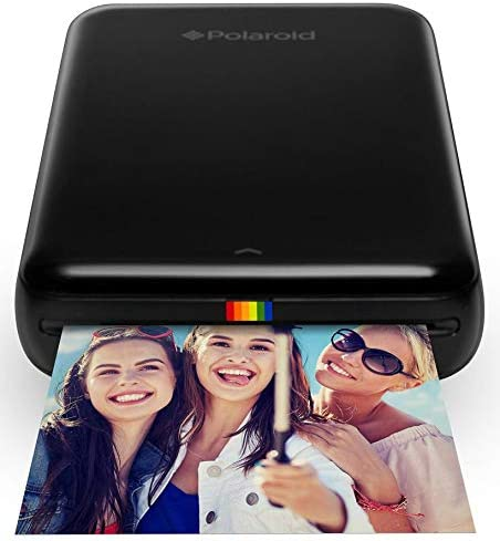 Polaroid ZIP Wireless Mobile Photo Mini Printer (Black) with Polaroid 2x3ʺ Premium ZINK Zero Photo Paper 50-Pack