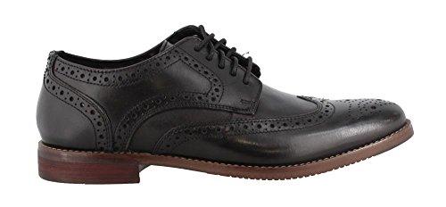 Comfortable Black Dress Shoes - Rockport Men's Derby Room Wingtip Shoe, black, 10.5 M US