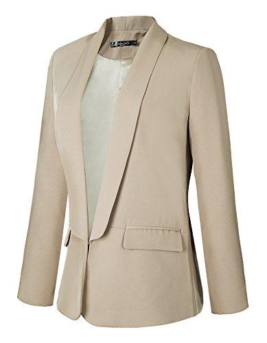 Goco Elegante Urban Blazers Outwear Caqui De Mujeres Chaqueta Slim Fit Negocios Oficina Traje gq8dwqp