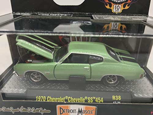 M2 Machines Detroit-Muscle 1970 Chevrolet Chevelle SS 454 1:64 Scale R38 17-21 Sea Green/Black Details Like NO Other! 1 of 6000 (Muscle Machines)