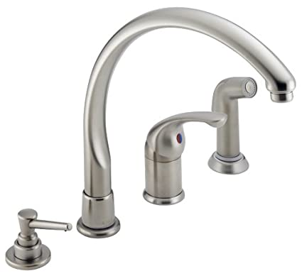 Charmant DELTA 174SSWF Kitchen Faucet Single Handle Stainless Steel