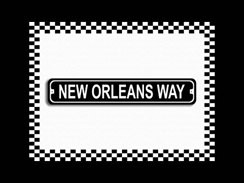 New Orleans Way Novelty Metal Street Sign - Shopping Orleans New At