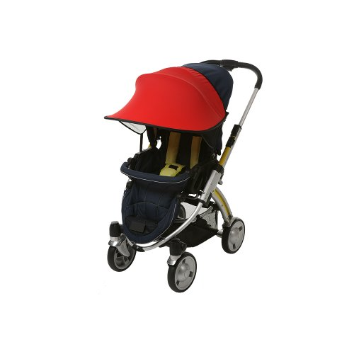 (Manito Sun Shade for Strollers and Car Seats (Red) UPF 50+)