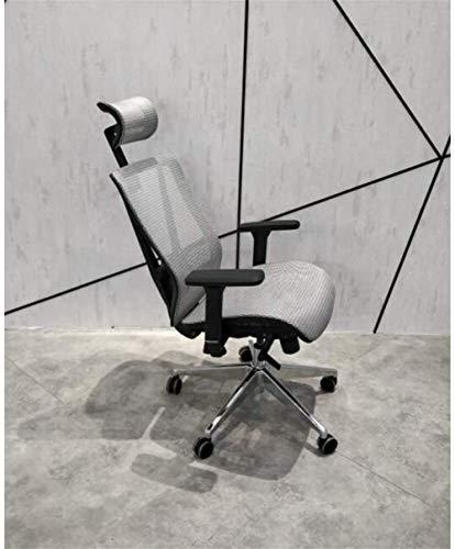 Sommar andningsbar datorstol, kontor nätstol, sommar full nätduk bekväm och stillasittande hem ergonomisk spelsvängbar stol (storlek: Grå)