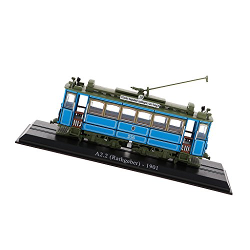 Baoblaze 1/87アトラストラムモデル バスおもちゃ A2.2(ラスゲバー)1901ダイキャストカー列車模型