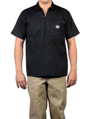 Ben Davis 124 Adult's Solid Color SS Work Shirts Black Medium