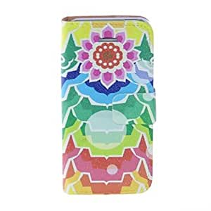 LCJ Kinston Sunflower Pattern PU Leather Full Body Case with Stand for iPhone 5/5S