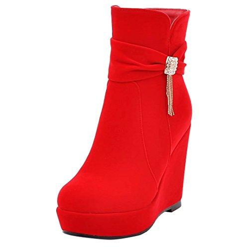 Classic Women's Boot rot AIYOUMEI 4 Z7An7x