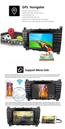 HIZPO Android 8 1 Car Audio Stereo for Mercedes Benz C-Class