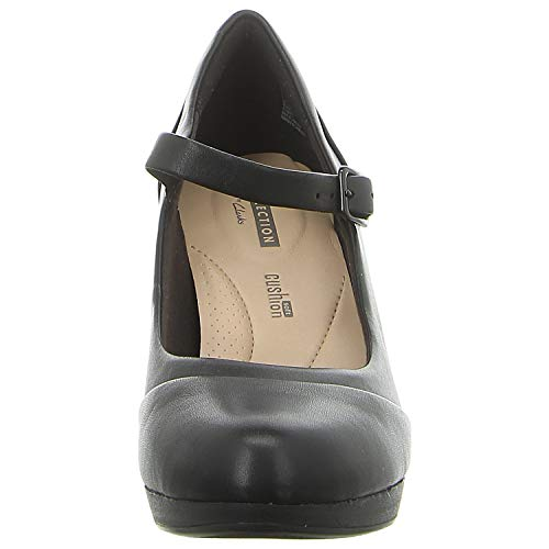 Shoe Carla Black Clarks 7 D 5 Leather Adriel Womens qFfwAp