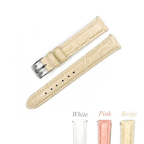 Crocodile Embossed Strap - YQI Great Replacement Watch Strap with Crocodile Embossed Pattern,Genuine Leather Watch Band for Women