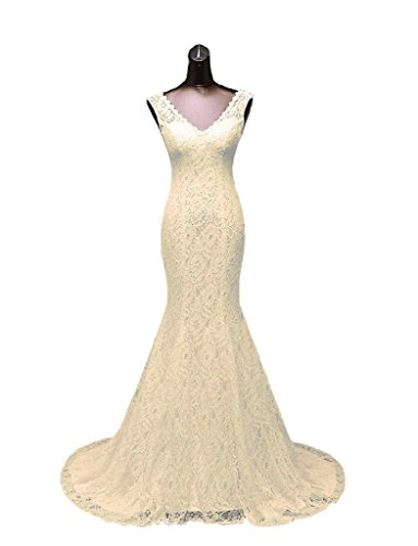 JYDress - Vestido - para mujer beige champán 46