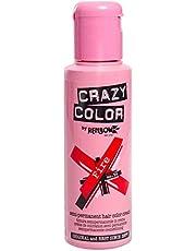 Renbow Crazy Color Semi-Permanent Hair Color Dye Fire 56 - 100 ml, per stuk verpakt (1 x 115 g)