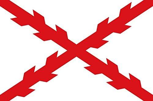 Durabol Große Flagge Kreuz De Burgund 150 X 90 Cm Sport Freizeit