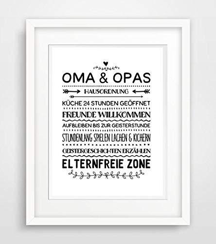 Oma Und Opas Hausordnung Spruch Leben Liebe Spruche Fine Art