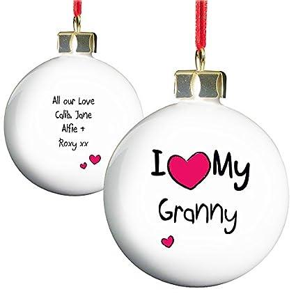 Keepsake Christmas Tree Gift Happy Christmas Granny Bauble Decoration