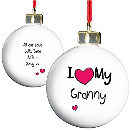 i love my granny christmas bauble tree decorations christmas gifts for my granny