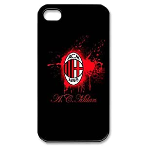 iPhone 4,4S Custom Cell Phone Case AC Milan FC Logo Case Cover 7WFF34055