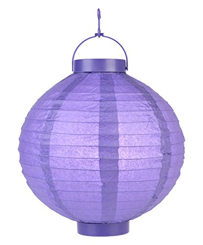 Quasimoon PaperLanternStore.com 8''''Budget Friendly'' Battery Operated LED Lantern - Purple (10 PACK) by Quasimoon