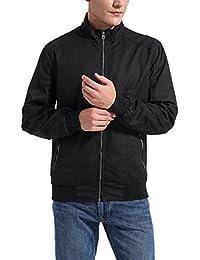Mens Classic Cotton Casual Jacket,Men's Regular Fit Lightweight Full Zip Outerwear