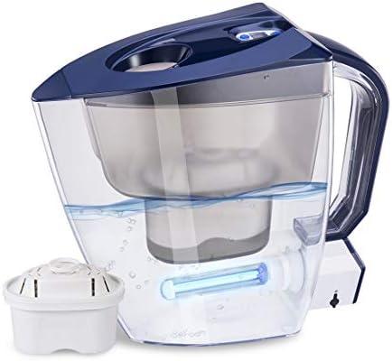 GOSILO Jarra de filtro de agua alcalina, purificador de agua con ...